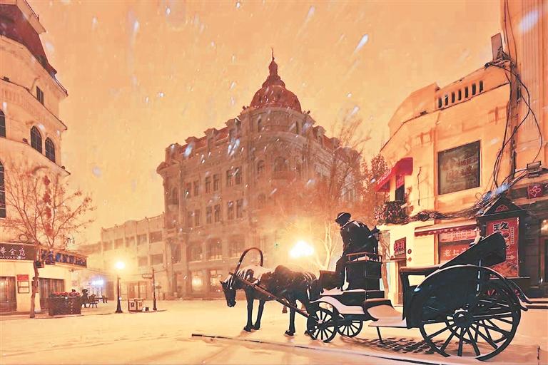 雪后冰城美景。图片由采访对象提供