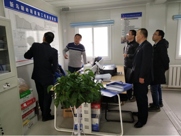 县局局长王立龙带队了解兰张三四线新乌鞘岭隧道项目情况