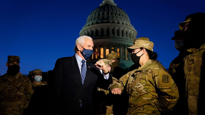 【超快感】_彭斯意外现身美国会 指示国民警卫队:确保新总统就职安全