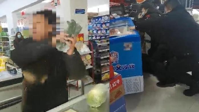 黑龙江一男子超市内拒戴口罩,嚣张辱骂提醒者还打警察