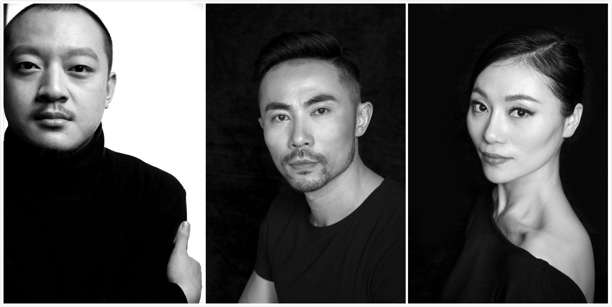 """金星舞蹈团的三位""""元老"""":汪涛、韩斌、孙主臻(从左至右)。"""