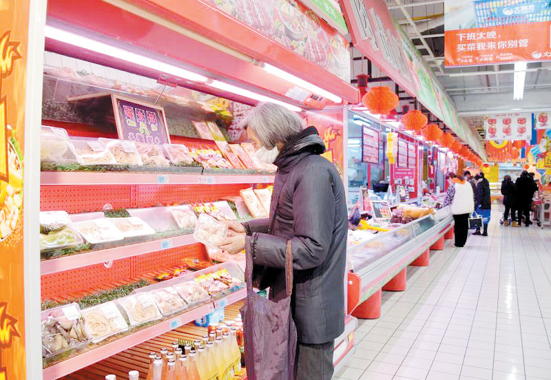 市民逛超市自带袋子