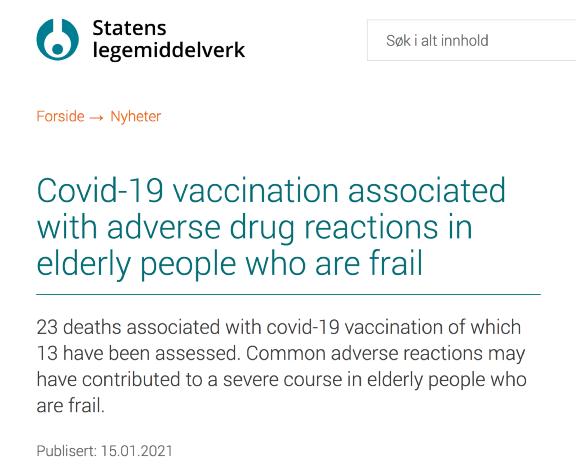 挪威爆发疫苗接种后最大规模死亡,辉瑞疫苗真的不安全?_凤凰网