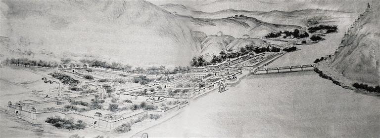 兰州城池鸟瞰图