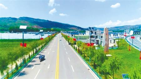 在东西部扶贫协作项目帮扶下,渭源县上湾镇旧貌换新颜。渭源县融媒体中心供图