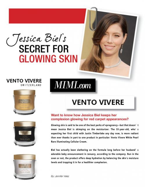 倍受好莱坞女星追捧的瑞士细胞抗老护肤---维美瑞 VENTO VIVERE