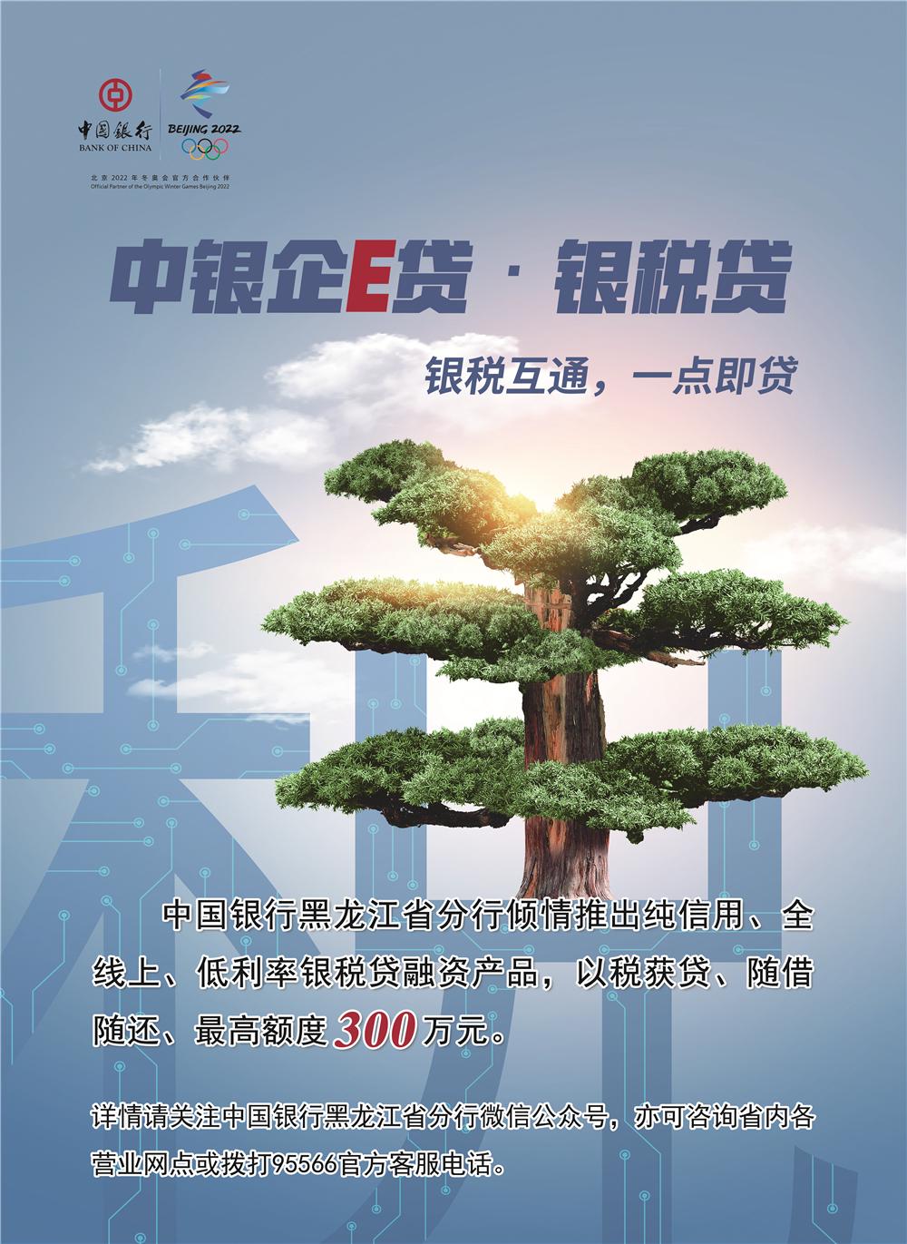 中银企E贷——银税互通,一点即贷