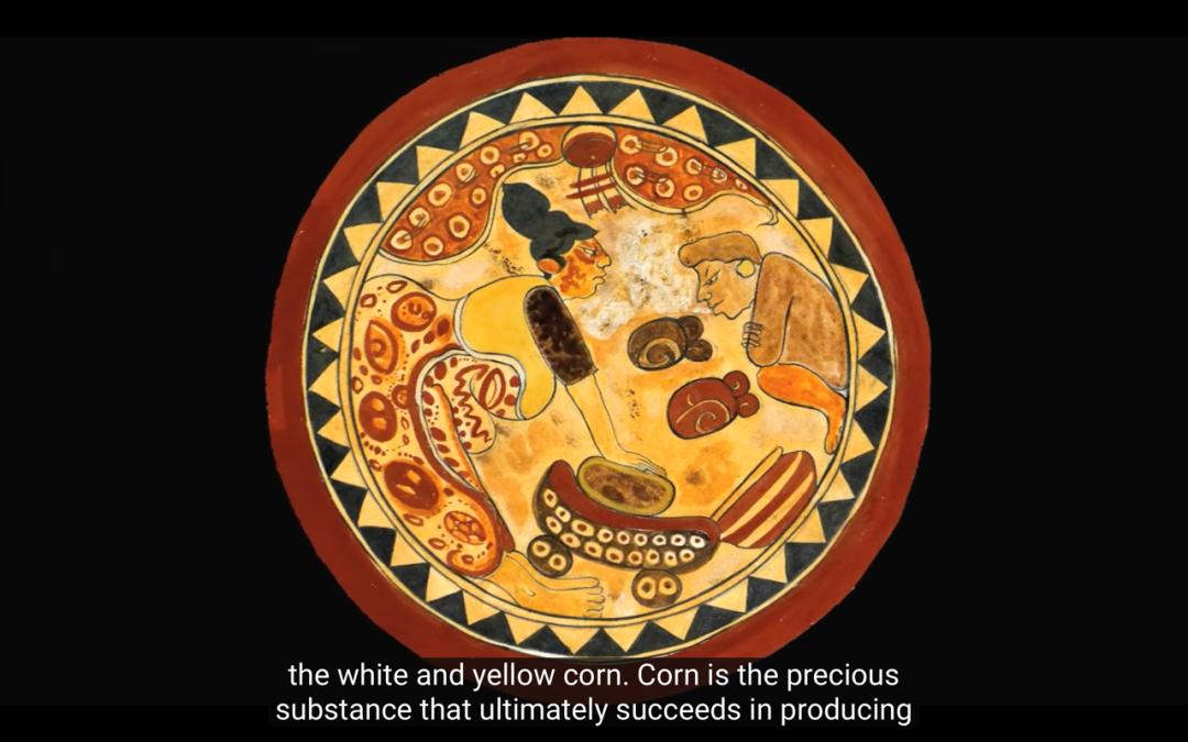△根据玛雅传说:造物主手中的玉米团就是人类的雏形 / youtube截图
