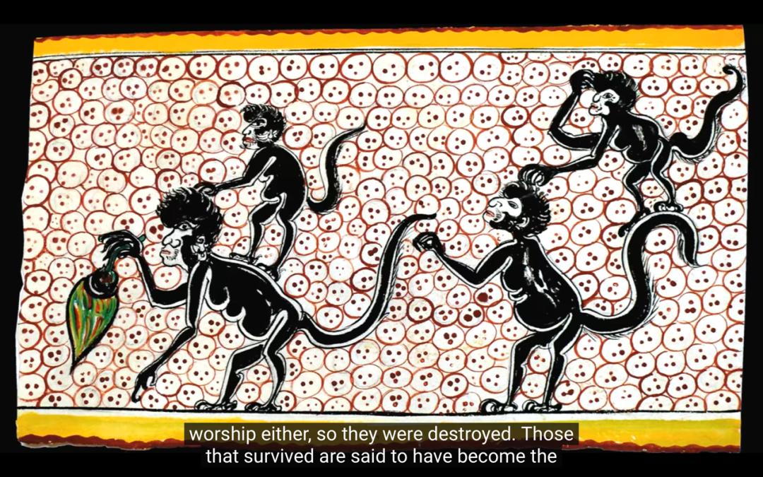 △由木头造成的人类僵硬迟钝,最后变成猴子 / youtube截图