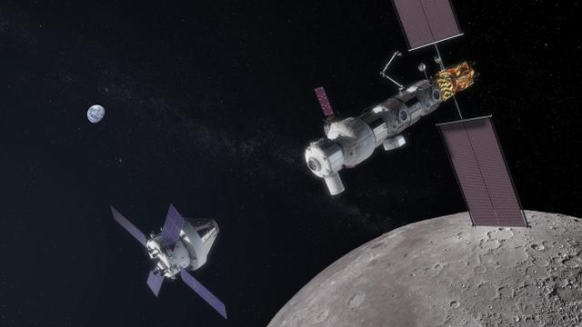 【NASA设想中的地月轨道空间站】