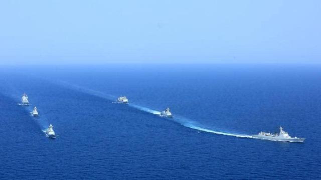 抗战胜利70周年阅兵当天,5艘中国军舰出现在阿拉斯加?