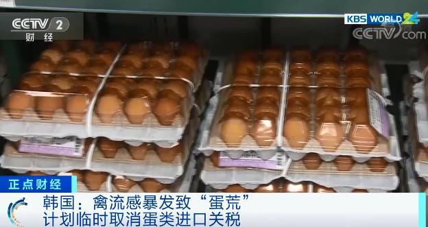 禽流感暴发致蛋类产品供应不足 韩国拟取消蛋类产品进口关税