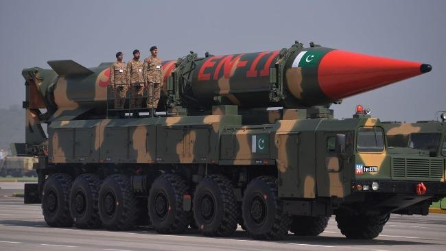 """圖為巴基斯坦""""沙欣2""""彈道導彈,""""沙欣3""""導彈在其基礎上改進增程而來。"""