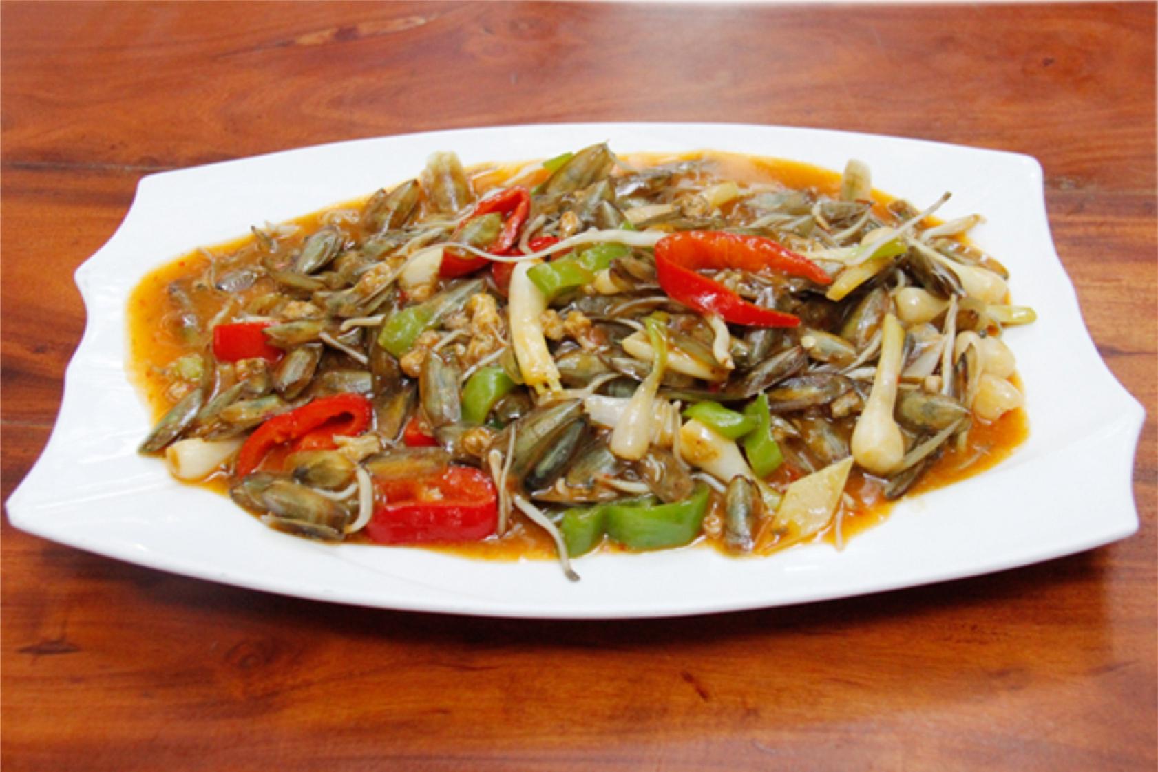 尖椒炒海豆芽