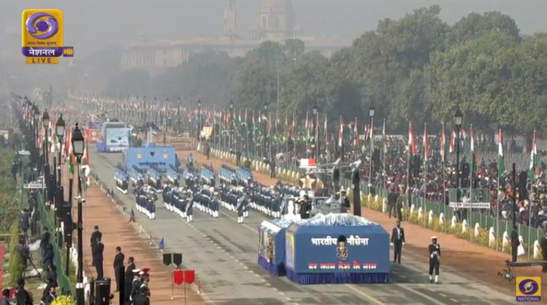 印度阅兵现场图