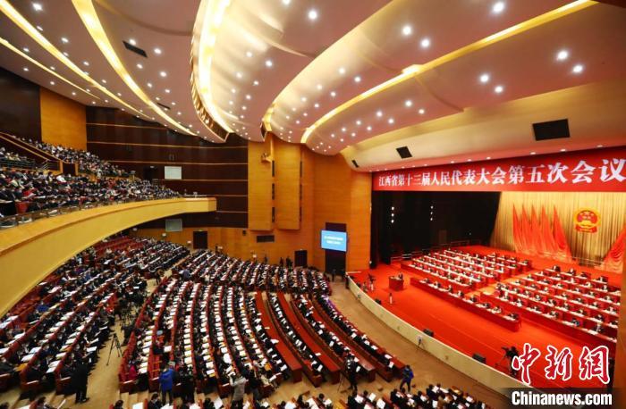 1月26日,江西省第十三届人民代表大会第五次会议在南昌开幕。中新社记者 刘占昆 摄