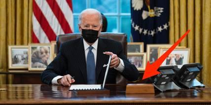 """""""红色按钮""""重返白宫椭圆形办公室?曾被特朗普用来点可乐"""