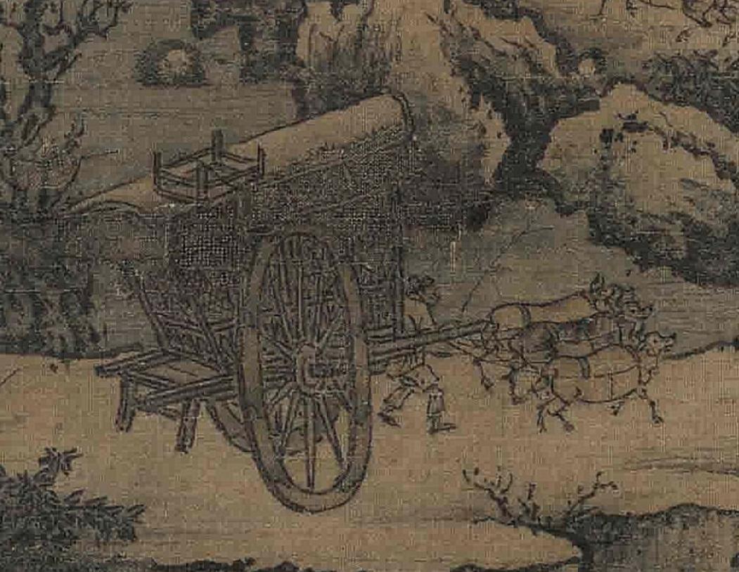 南宋 朱锐(传) 《溪山行旅图》(局部)