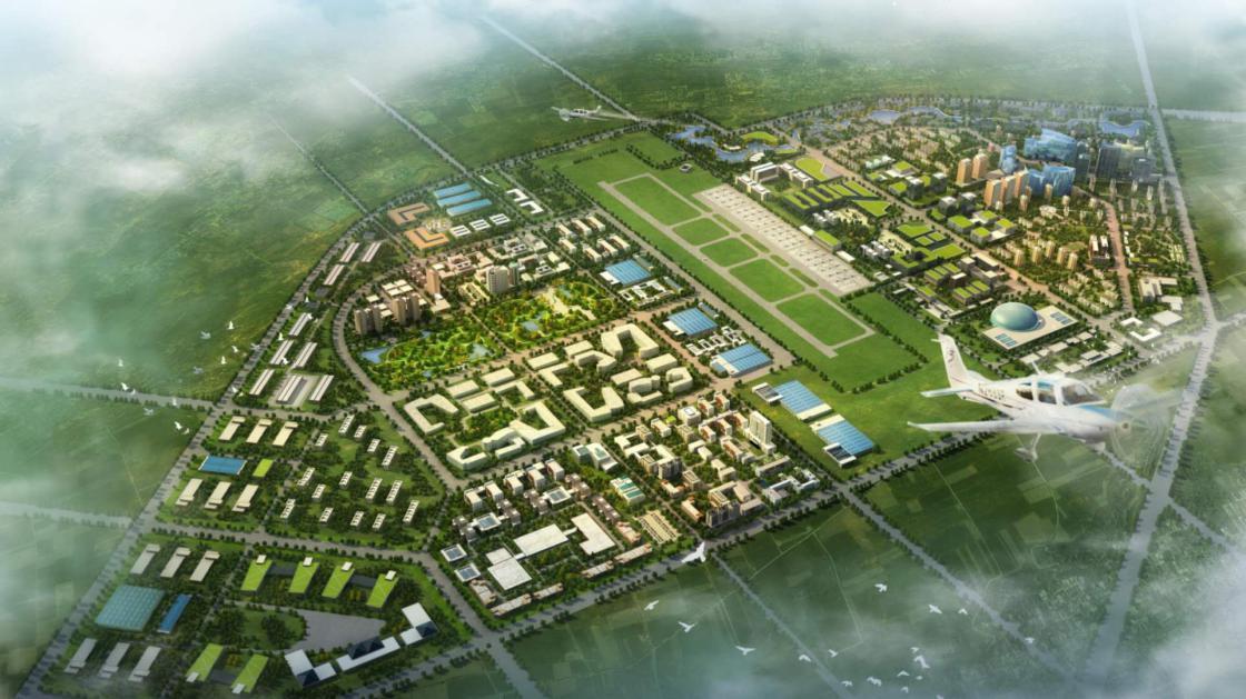西安航空基地(蓝田)航空产业园规划效果图