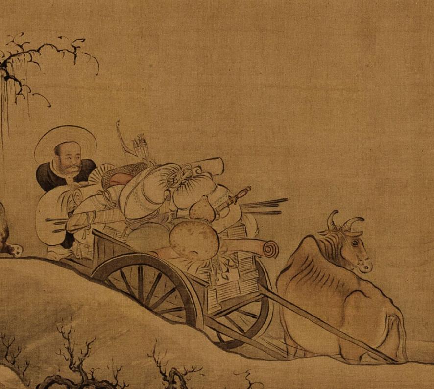 清 禹之鼎 《移居图》(局部) 故宫博物院藏
