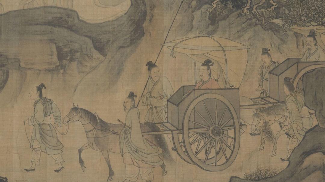 南宋 李唐 (传)《晋文公复国图》(局部) 大都会博物馆藏