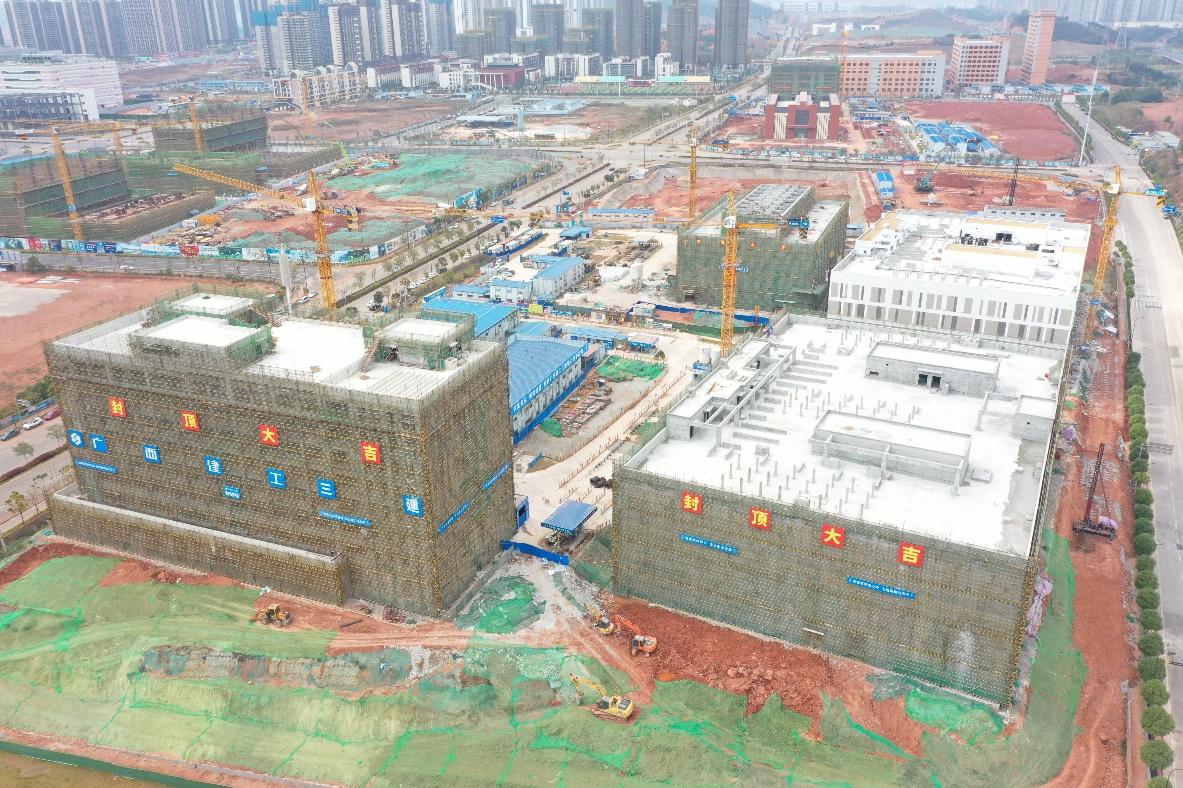 在建中的中国移动(广西)数据中心一期工程。