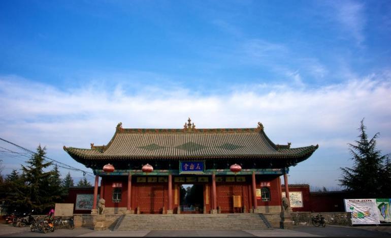 图为全国首批重点文物保护单位 山西芮城县永乐宫旅游区