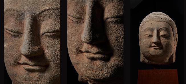图为天龙山佛首回运后拍摄高清图片 来源:国家文物局