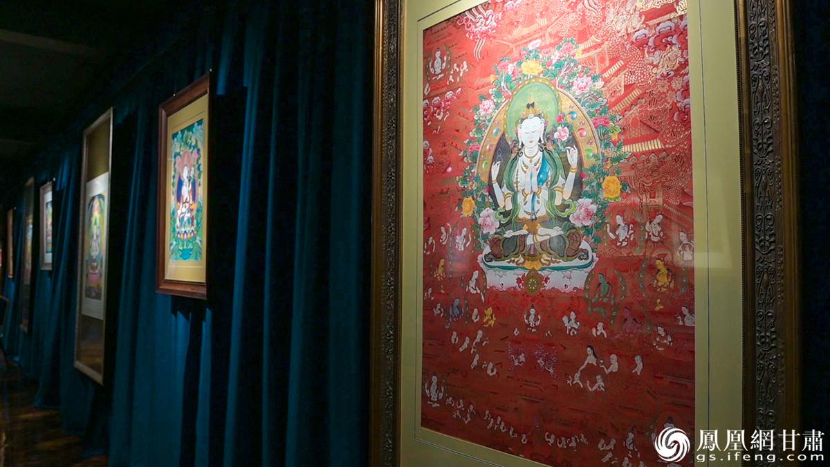 华锐唐卡博物馆展示的部分唐卡 杨艺锴 摄