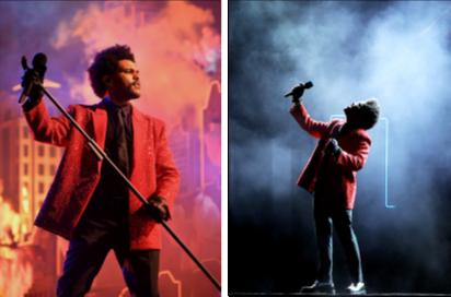 The Weeknd身着Givenchy  亮相第55届美国超级碗中场秀 (55TH SUPER BOWL HALFTIME SHOW)