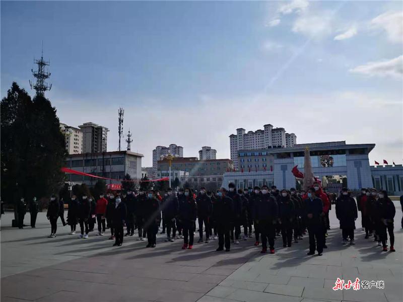 参观红军会宁会师旧址