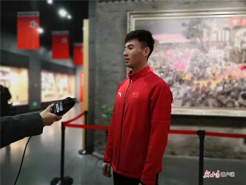 国家集训队员赵磊接受采访