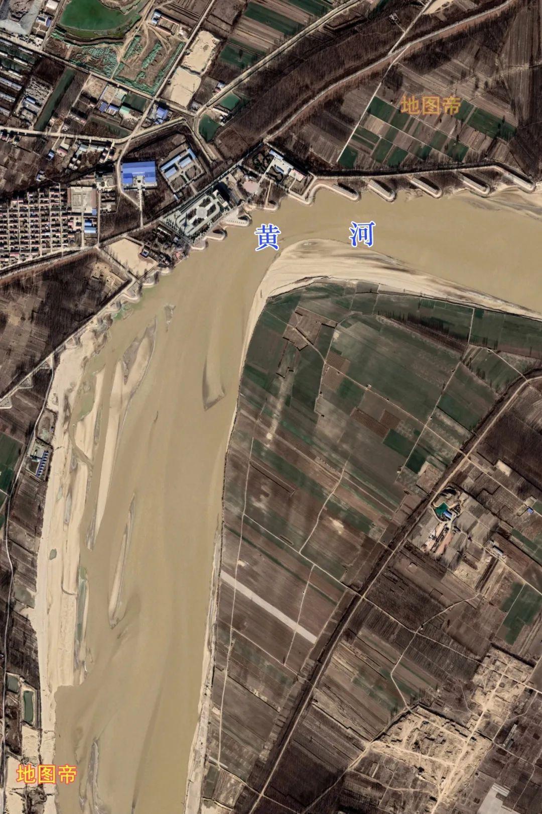 图-黄河北为台前县,黄河以南为山东