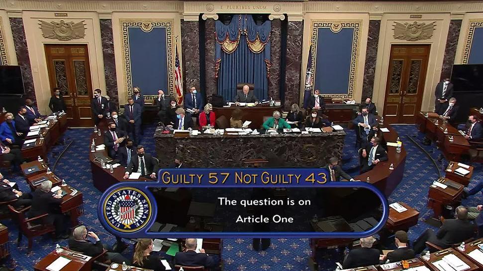 美國會參議院否決針對特朗普的彈劾條款