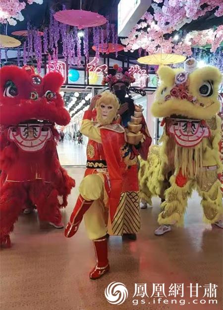 凉州舞狮现在玩出了很多新花样 杨门元供图