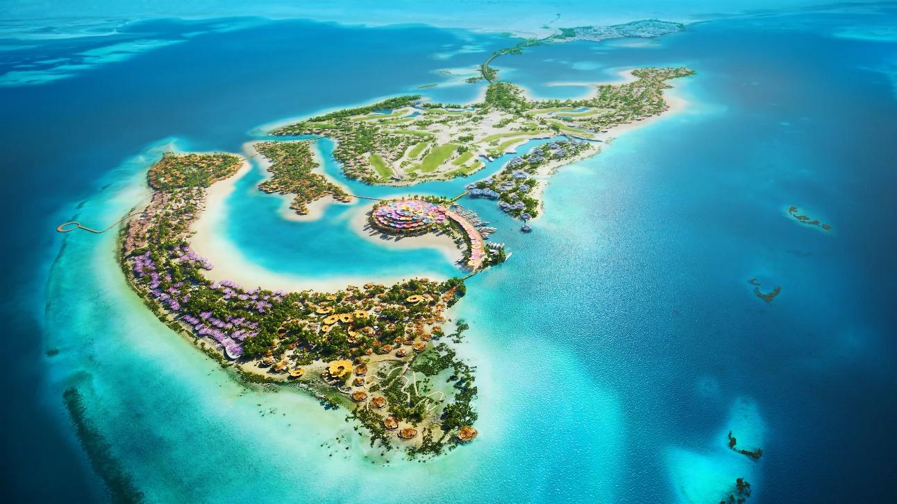 沙特王储揭晓的红海项目,将在22个岛屿和6个内陆度假村建成50家酒店
