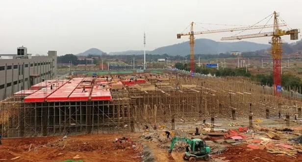 狮子山高新区洁雅生物2号厂房项目建设现场
