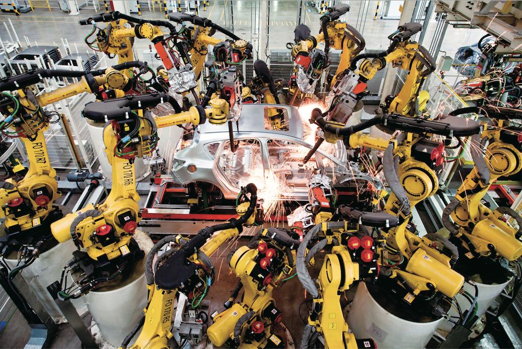 东岳北厂车身车间高密度机器人焊接