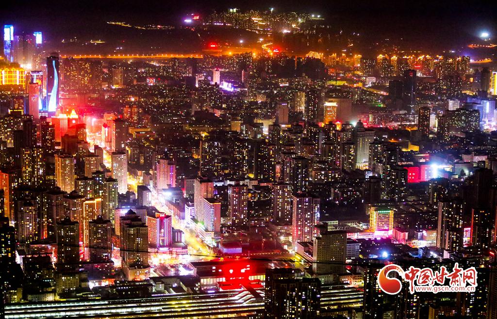 2月20日,金城华灯初上。