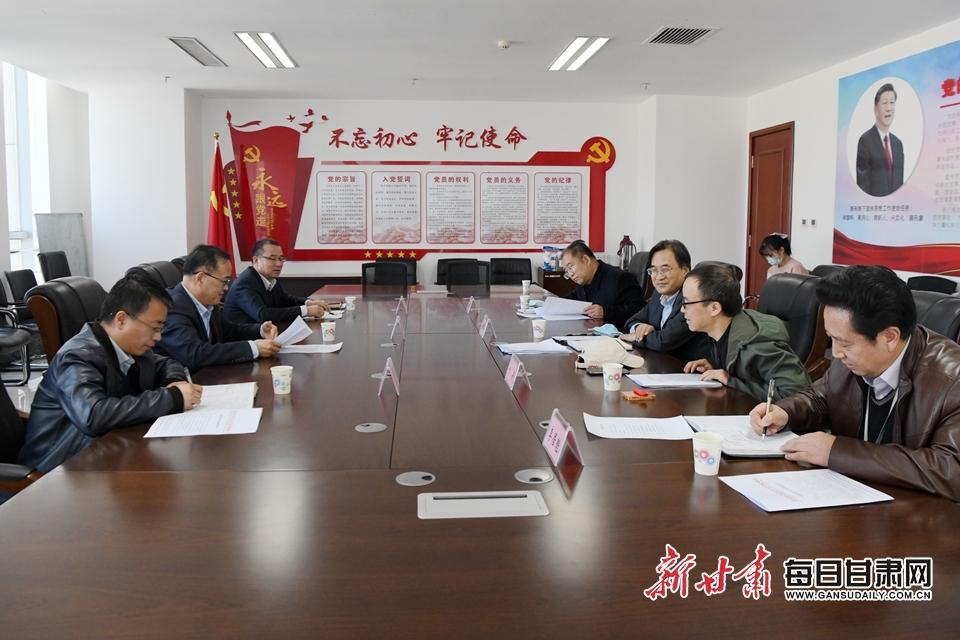 甘肃省税务局走访全国政协委员叶洲 共话税收促发展