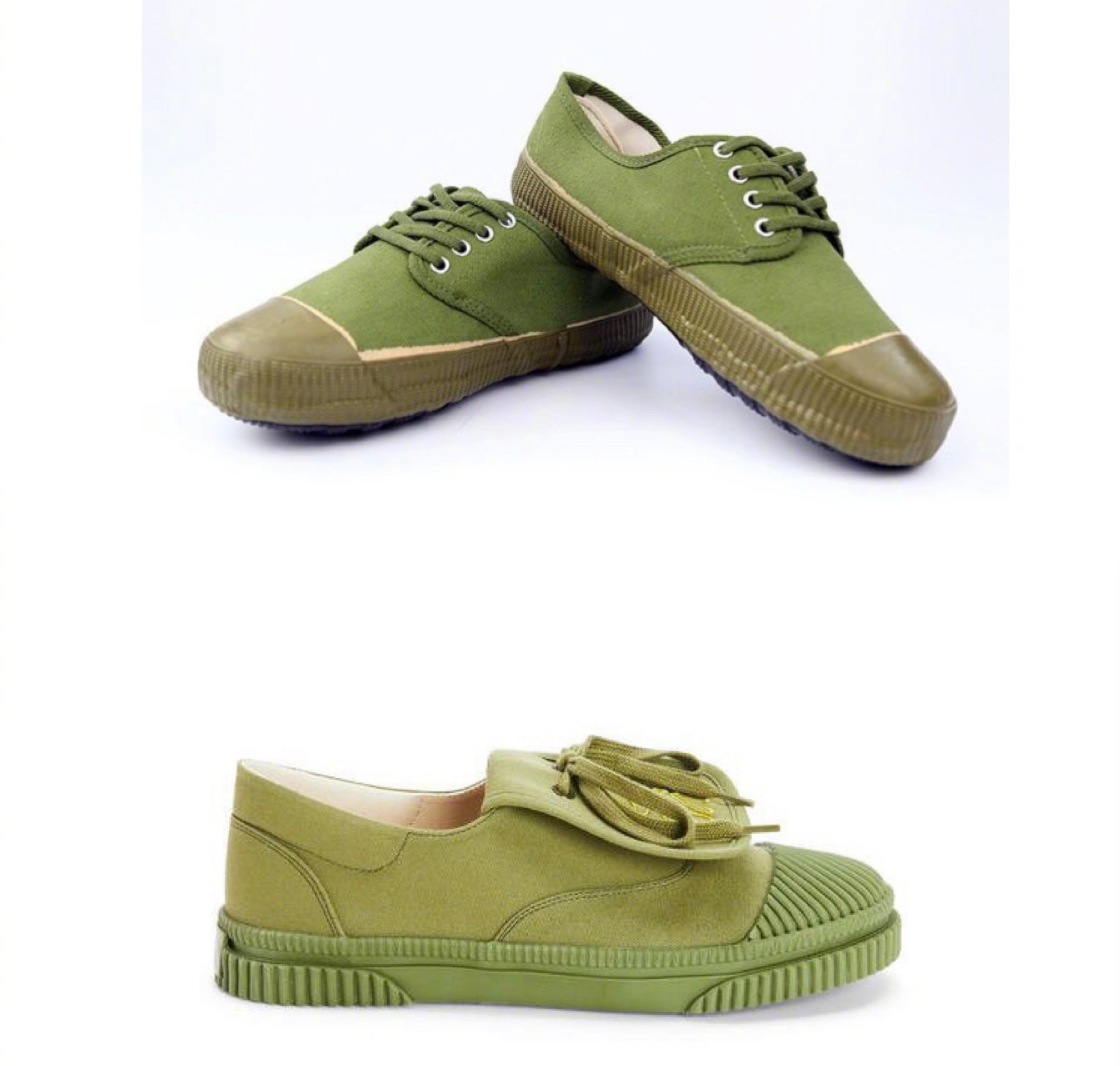 上:解放鞋 下:Loewe运动鞋