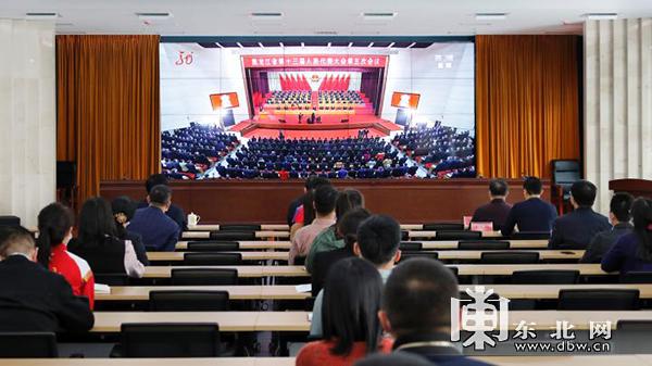 黑龙江省体育局系统党员干部收看了大会。