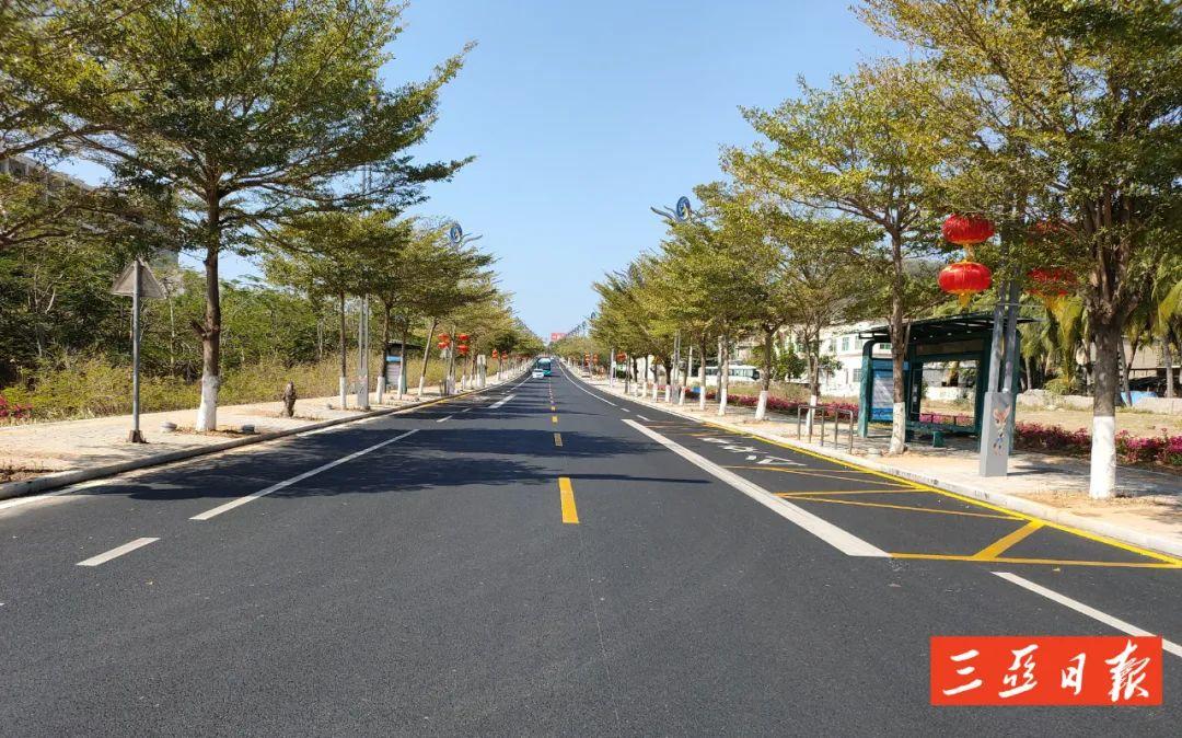 变美!三亚这段道路景观提升工程完工→
