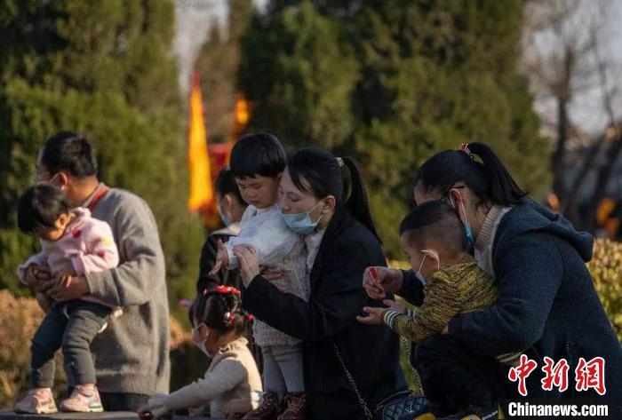 """""""华人老家""""山西洪洞大槐树景区第十五届民俗中国年活动持续火爆。洪洞大槐树景区供图"""