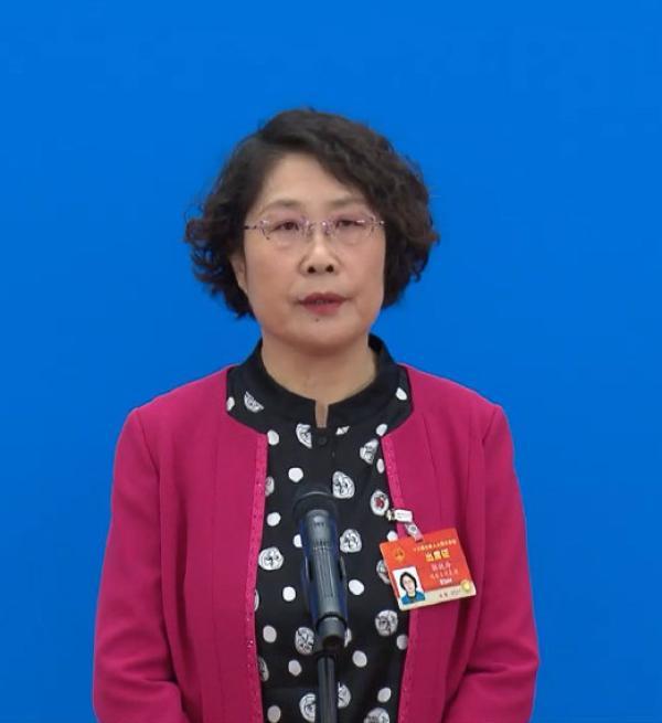 郭艳玲代表。  @新华视点 图
