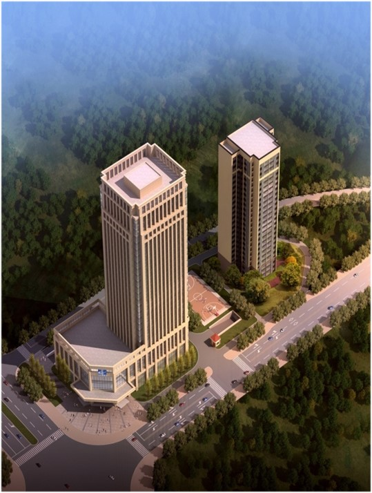 (位于株洲市荷塘区的新桂广场•新桂国际项目,总建筑面积5.4万平方米。)