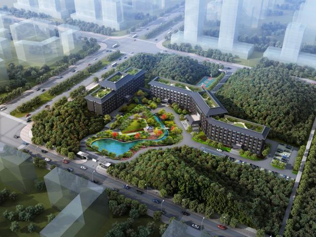 (邵阳市纪检监察办案场所项目,总建筑面积3.3万平方米。)