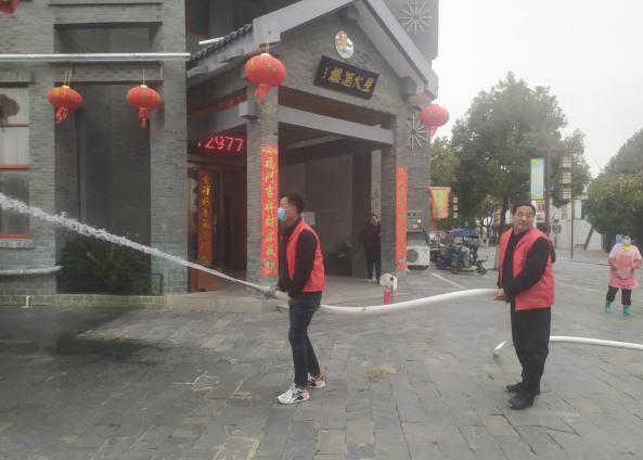 安巢经开区半汤街道温泉社区开展消防安全知识宣传及应急演练活动