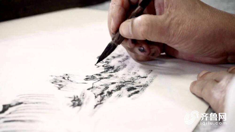济南书画艺术家用10钜亨娱乐网0幅焦墨画显现近百年前的老