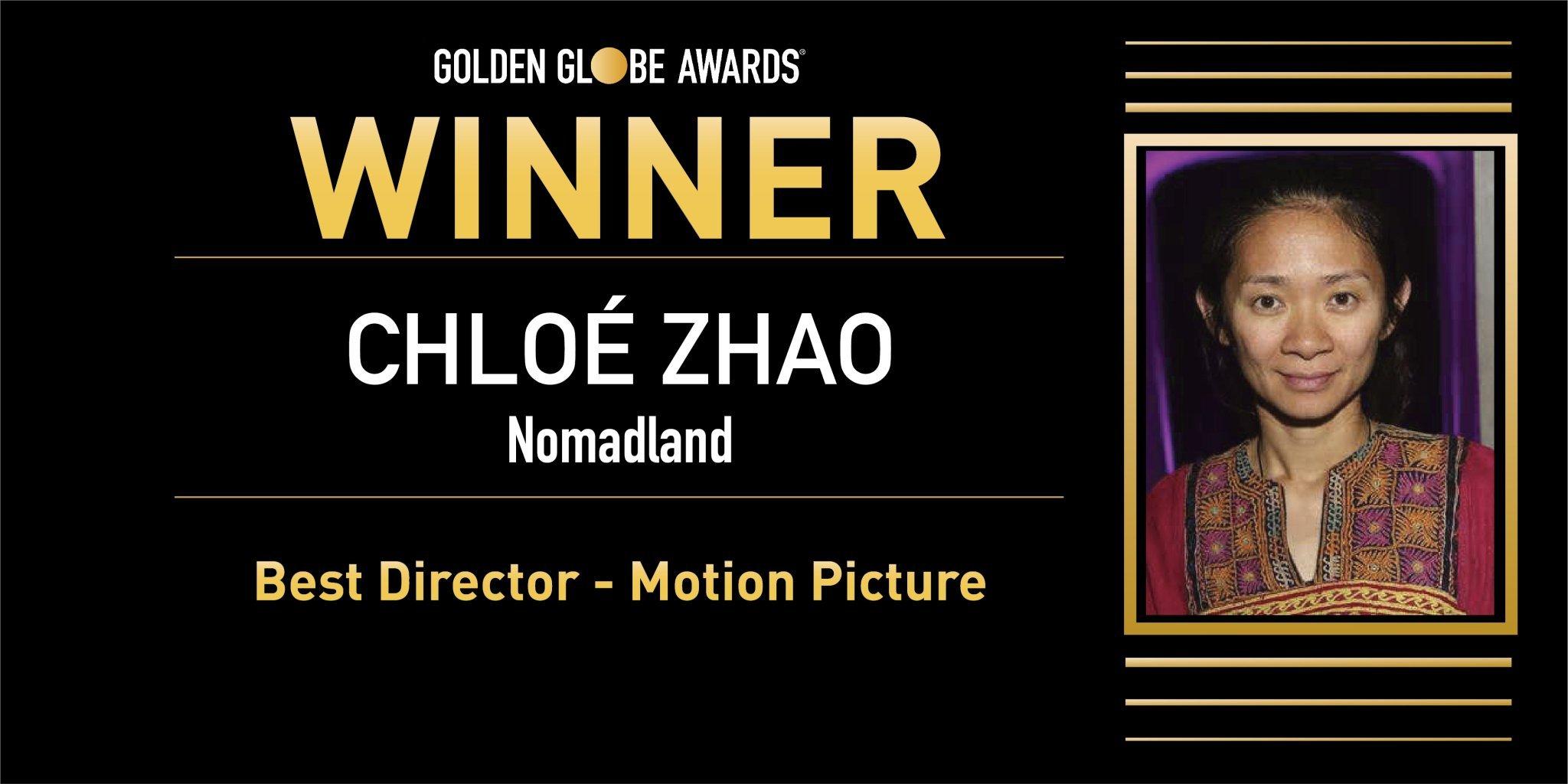 赵婷成史上第一位获得金球奖最佳导演的中国女导演